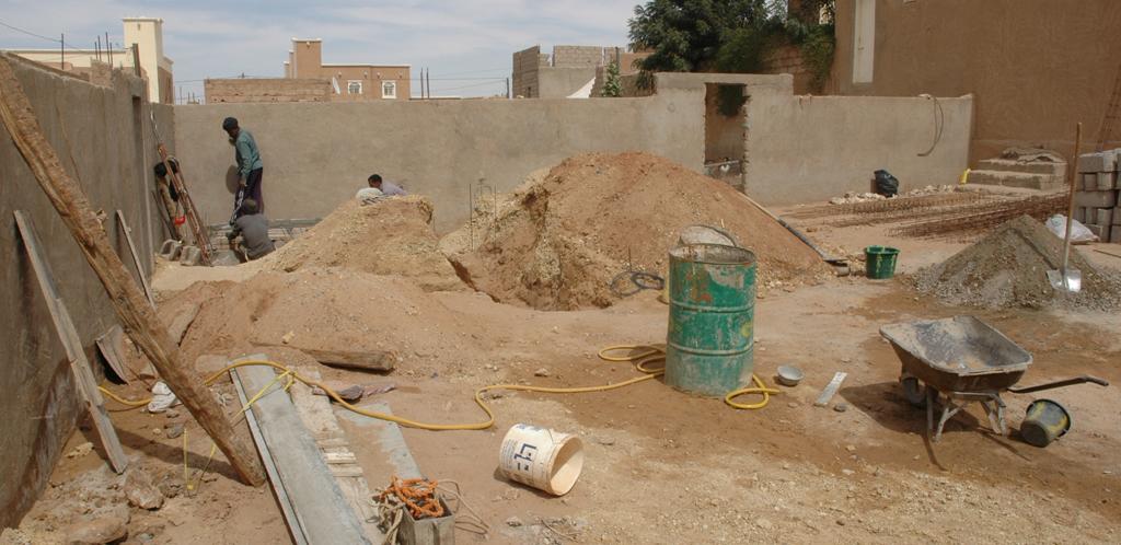 Début de construction du Centre Emel (janvier 2009)